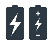 Battery with Flash Icon Design Royalty Free Stock Images
