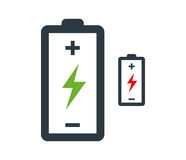 Battery with Flash Icon Design Royalty Free Stock Photography