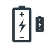 Battery with Flash Icon Design Royalty Free Stock Photos
