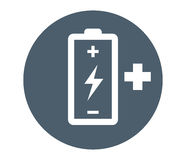 Battery with Flash and Plus Stock Images