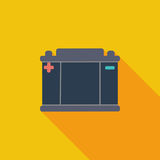 Battery flat icon. Royalty Free Stock Image