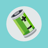 Battery flat icon design vector Royalty Free Stock Image