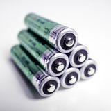 Battery with a fresh perspective Royalty Free Stock Image