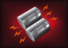 Battery full level Stock Photography