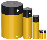 Battery. Gold black R20 R6 R3 Royalty Free Stock Image