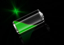 Battery green Stock Photo