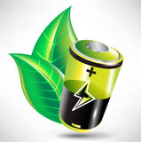 Battery/ green energy concept Royalty Free Stock Image