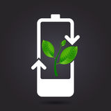 Battery green energy. Royalty Free Stock Photography