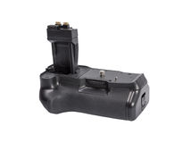 Battery grip for modern DSLR camera Royalty Free Stock Photography