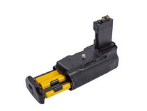 Battery grip for modern DSLR camera Royalty Free Stock Photo
