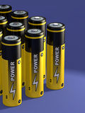 Battery group Royalty Free Stock Photo