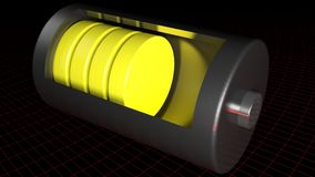 Battery half charged - 3D rendering Royalty Free Stock Photography