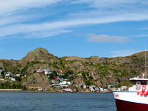 Battery Hill in St John, Newfoundland Royalty Free Stock Photos