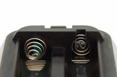 Battery holder with metal connectors Stock Images