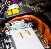 Battery and hybrid engine Stock Image