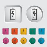 Battery icon. Royalty Free Stock Photos