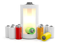 Battery Icon. 3D illustration Royalty Free Stock Photo