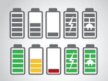 Battery icon charge level Stock Photo
