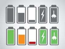 Battery icon charge level Royalty Free Stock Photo