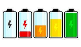 Battery icon. Charge level. Vector illustration royalty free illustration