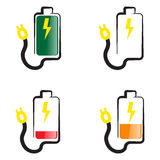 Battery icon energy Stock Photography