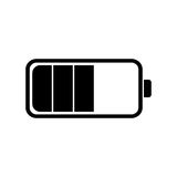 Battery icon in a flat design Stock Photo