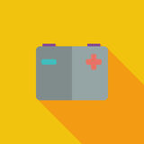 Battery icon. Flat vector related icon with long shadow for web and mobile applications. It can be used as - logo, pictogram, icon, infographic element. Vector Royalty Free Stock Photo