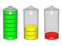 Battery icon. Isolated on the white background Royalty Free Stock Images
