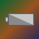 Battery icon. Monochromic battery icon on the gradient background Stock Photo