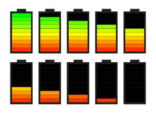 Battery. The battery icon for phones and tablets Stock Photos