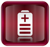 Battery icon red Royalty Free Stock Photography