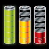 Battery icon set Stock Photo