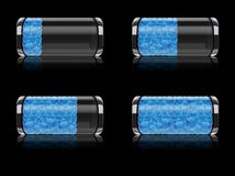 Battery icon set with bubbles  format Royalty Free Stock Images