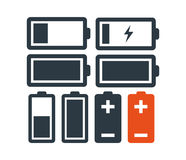 Battery Icon Set Royalty Free Stock Photos