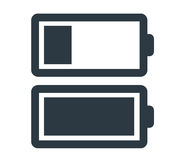 Battery Icon Set Stock Photography