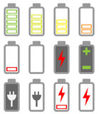 BAttery icon set Royalty Free Stock Image