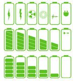 Battery icon set .Set of battery charge level Royalty Free Stock Image