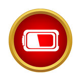 Battery icon in simple style Royalty Free Stock Photos