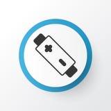 Battery Icon Symbol. Premium Quality  Alkaline Element In Trendy Style. Stock Photo