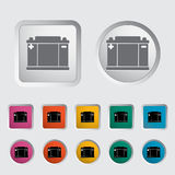 Battery icon. Vector illustration EPS Royalty Free Stock Images