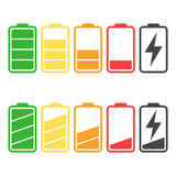 Battery icon vector set isolated on white background. Stock Photo