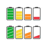 Battery icon vector set isolated on white background. Stock Photography