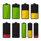 Battery Icon. Simple Energy Symbols. Battery Icon. Vector Simple Energy Symbol Royalty Free Stock Image