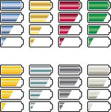 Battery icons Royalty Free Stock Images
