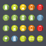 Battery Icons Flat Design Royalty Free Stock Photography