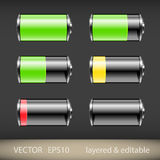 Battery Icons Stock Image