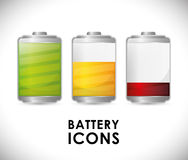 Battery icons graphic Royalty Free Stock Photo