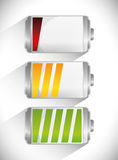 Battery icons graphic Stock Images