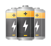 Battery icons graphic Stock Image
