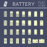 Battery Icons Set Royalty Free Stock Photo